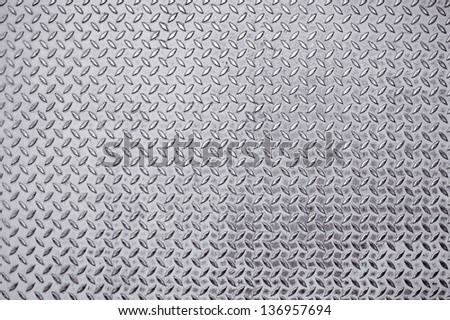 Old Metal diamond plate and rusty metal - stock photo