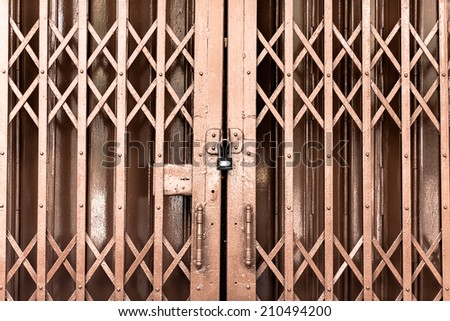 old metal door - stock photo