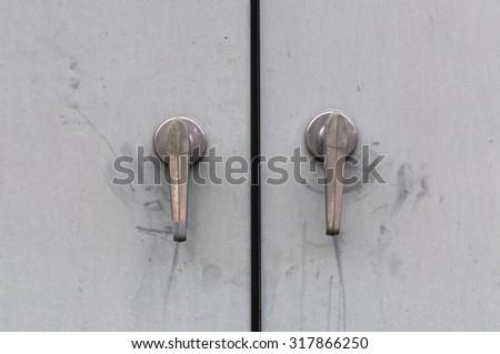 old Metal door handle  - stock photo