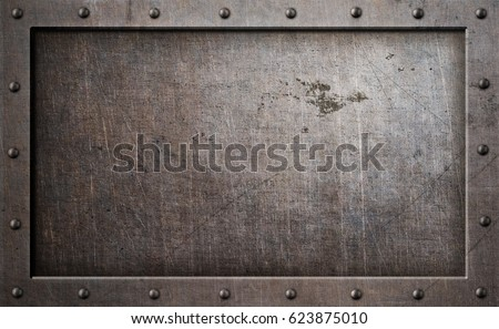 old metal frame background 3d illustration