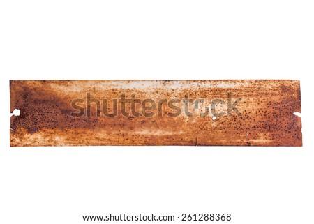 Old Metal Frame on white background - stock photo