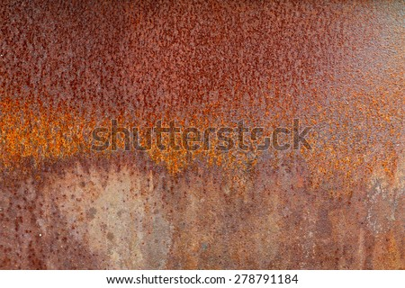Old metal iron rust background and texture.  - stock photo