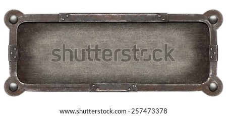 Old metal plate texture. Industrial background. - stock photo