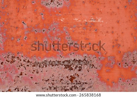 Old metal rusty background with cracked paint. Grunge background.
