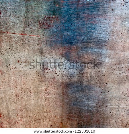 Old Metal Scratched texture - stock photo