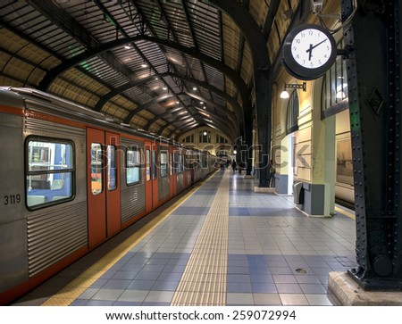 Old metro station in Athens, Greece - stock photo