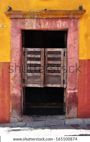 Western saloon style swinging doors