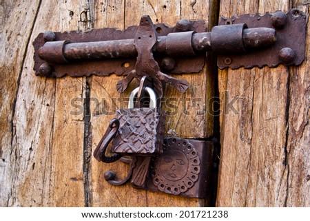 Old Mexican Door  - stock photo