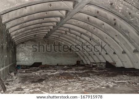 Old military bunker - stock photo