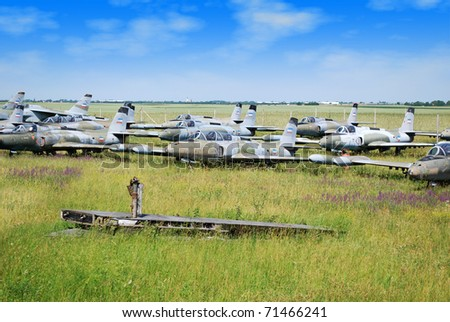 old military fighter jet airplanes graveyard
