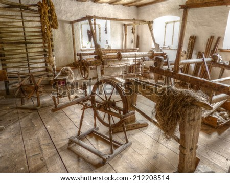 old mill in HDR - stock photo