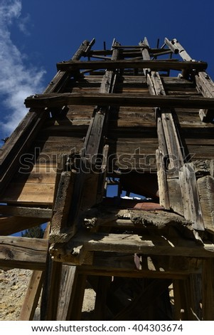 Old mine in Colorado, close up