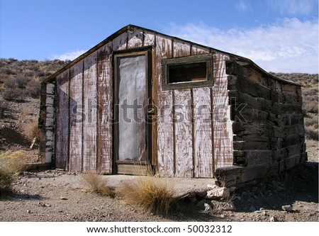 Old Miner's Cabin in Death Valley National Park, CA