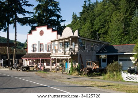 Old mining town - stock photo