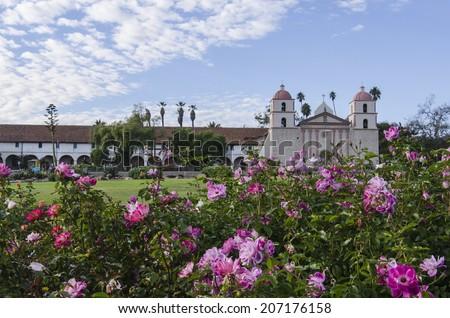 Old Mission Santa Barbara. California. USA. - stock photo