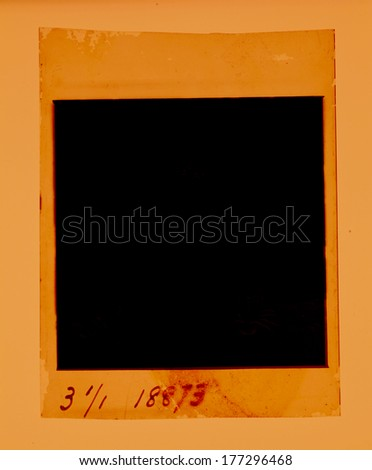 Old 120 mm  Film reel folded - stock photo
