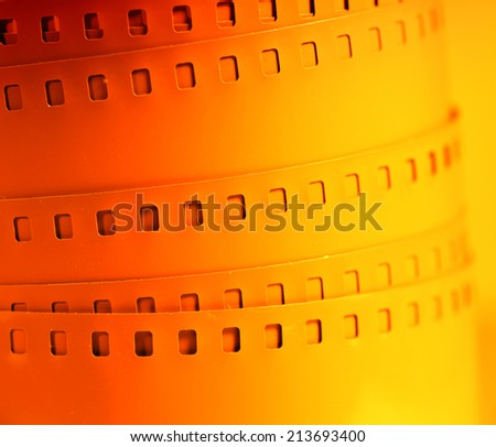 Old 35 mm movie Film reel - stock photo