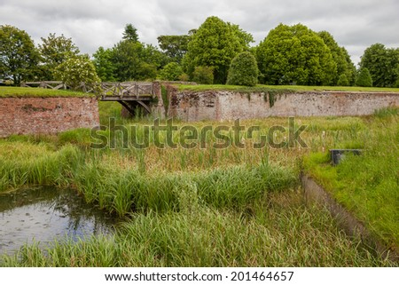 old moat of a castle