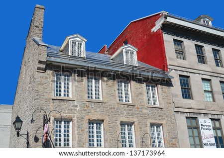 Old Montreal Building Details, Montreal, Quebec, Canada - stock photo