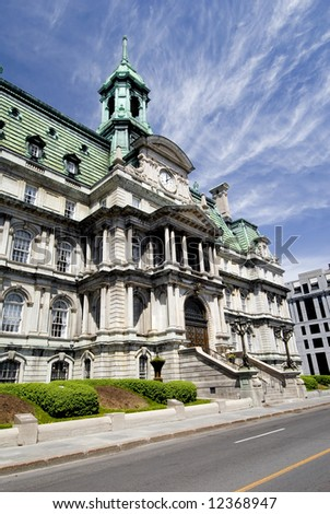 Old Montreal's Town Hall - stock photo