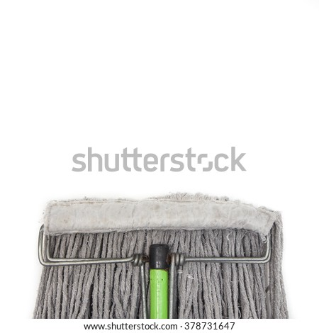 Old Mop on White Background