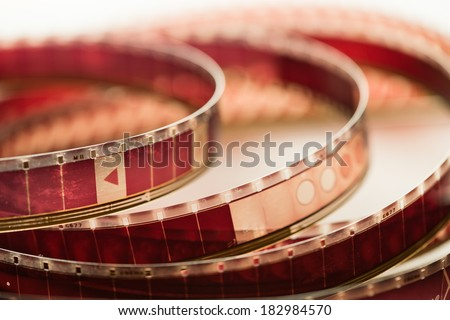 Old motion picture film - stock photo