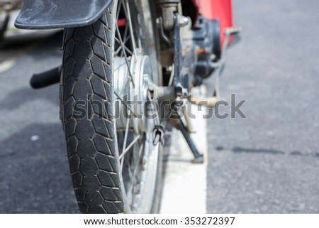 old motorcycle rubber tires in Thailand