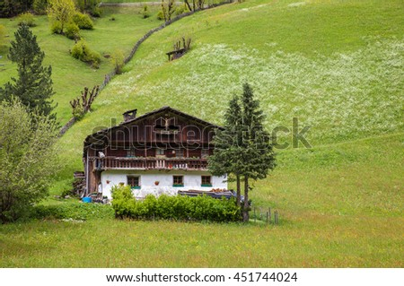 Old mountain farm in South Tyrol, Italy
