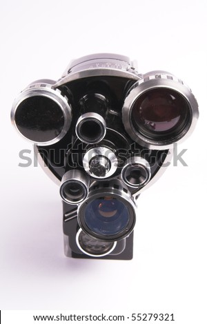 Old movie camera - stock photo