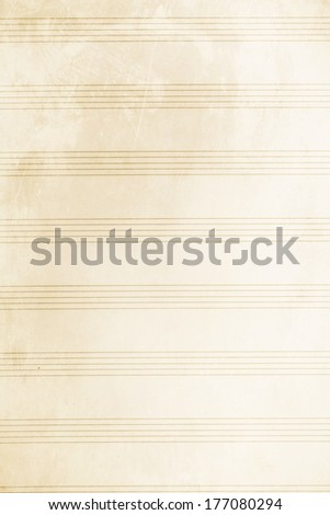 Old music sheet - stock photo