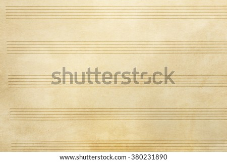 Old music sheet background and texture - stock photo