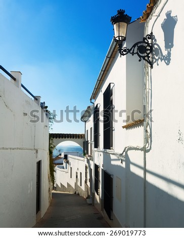 Old narrow streets at  Osuna.  Andalucia,  Spain