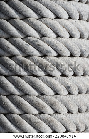 Old nautical rope, texture and background. - stock photo