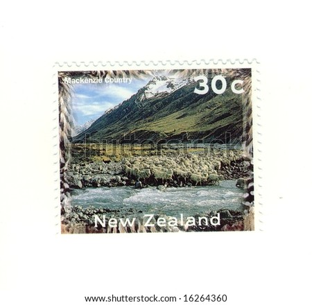 old new zealand stamp
