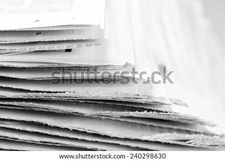 Old newspapers, selective focus  - stock photo