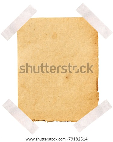 Old note paper paper on white background. - stock photo