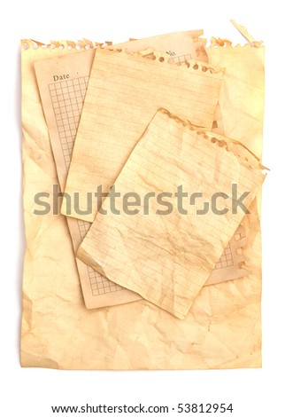 Old note papers background texture
