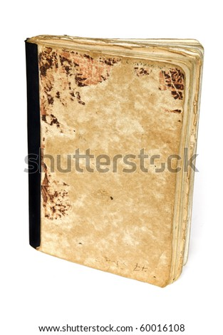 Old notebook - stock photo