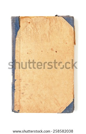 old notebook on white background - stock photo