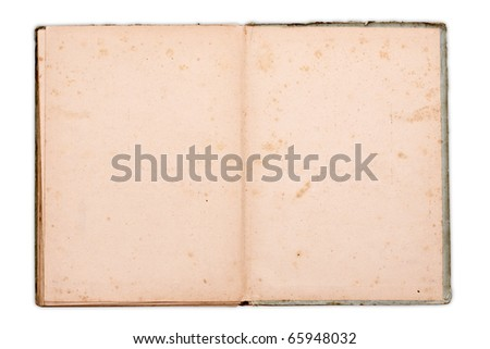 Old notebook with space for text or image isolated on white - stock photo