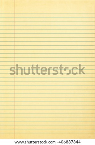 Old notepad paper with line patterned - blank for your design - stock photo