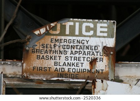 Old Notice Sign