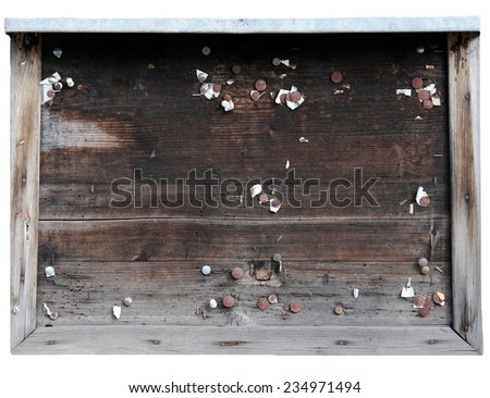 old noticeboard - stock photo