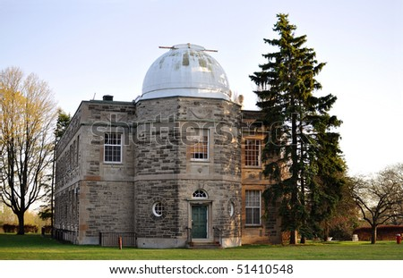 Old observatory with a dome
