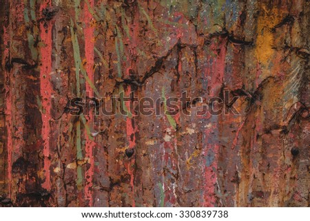 Old of Rusted galvanized iron plate texture background