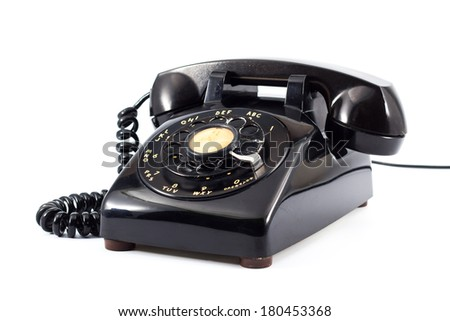 old office  phone - stock photo