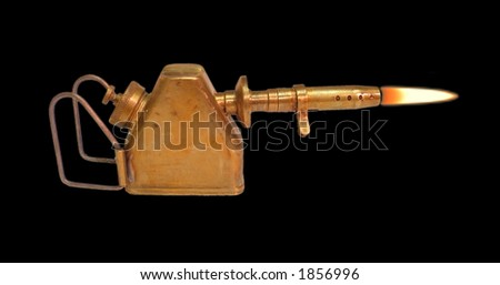 Old oil lamp - stock photo