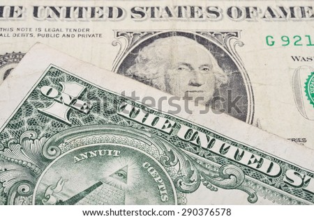 Old one dollar banknote - stock photo