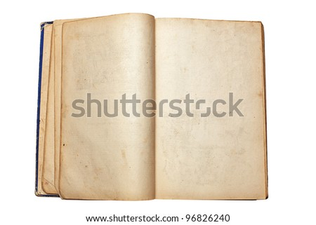 old open book - stock photo
