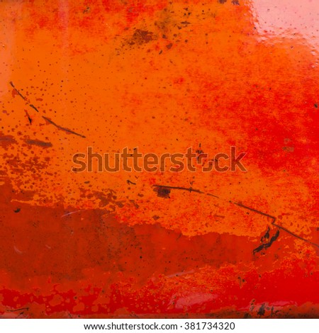 old orange steel metal grunge texture background - stock photo